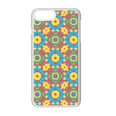 Geometric Multicolored Print Apple Iphone 7 Plus White Seamless Case by dflcprints