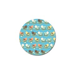 Assorted Birds Pattern Golf Ball Marker (10 Pack) by linceazul