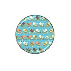 Assorted Birds Pattern Hat Clip Ball Marker (4 Pack) by linceazul