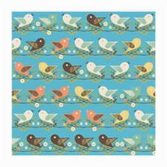 Assorted Birds Pattern Medium Glasses Cloth by linceazul
