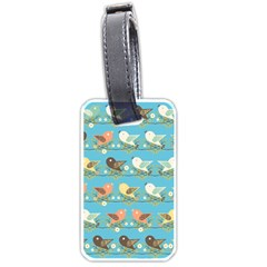 Assorted Birds Pattern Luggage Tags (one Side)  by linceazul