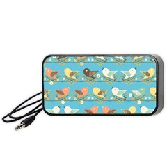 Assorted Birds Pattern Portable Speaker (black) by linceazul