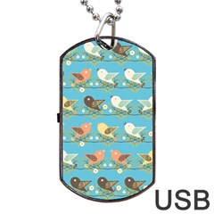 Assorted Birds Pattern Dog Tag Usb Flash (one Side)