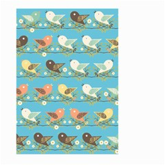 Assorted Birds Pattern Large Garden Flag (two Sides) by linceazul