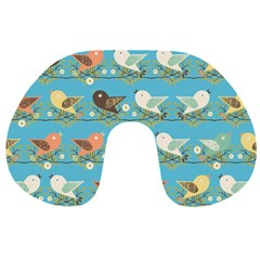 Assorted Birds Pattern Travel Neck Pillows by linceazul