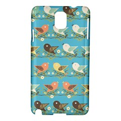 Assorted Birds Pattern Samsung Galaxy Note 3 N9005 Hardshell Case by linceazul