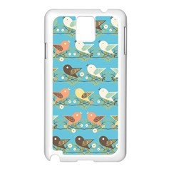 Assorted Birds Pattern Samsung Galaxy Note 3 N9005 Case (white) by linceazul