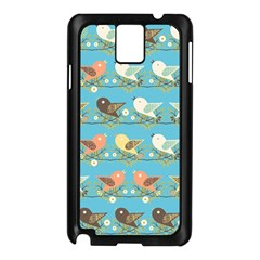 Assorted Birds Pattern Samsung Galaxy Note 3 N9005 Case (black) by linceazul