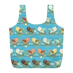 Assorted Birds Pattern Full Print Recycle Bags (l)  by linceazul