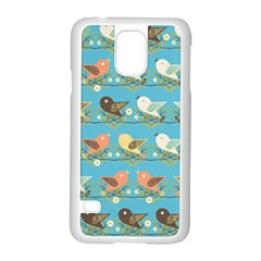 Assorted Birds Pattern Samsung Galaxy S5 Case (white) by linceazul