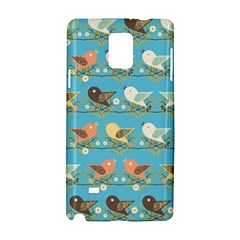 Assorted Birds Pattern Samsung Galaxy Note 4 Hardshell Case by linceazul