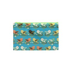 Assorted Birds Pattern Cosmetic Bag (xs) by linceazul