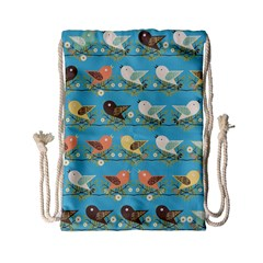 Assorted Birds Pattern Drawstring Bag (small) by linceazul