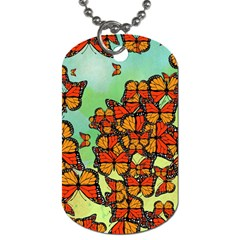 Monarch Butterflies Dog Tag (two Sides) by linceazul
