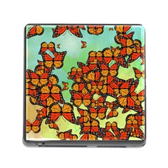Monarch Butterflies Memory Card Reader (square) by linceazul