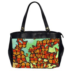 Monarch Butterflies Office Handbags (2 Sides)  by linceazul