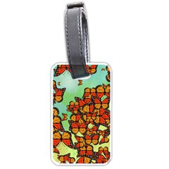 Monarch Butterflies Luggage Tags (one Side)  by linceazul