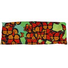 Monarch Butterflies Body Pillow Case Dakimakura (two Sides) by linceazul