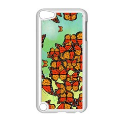 Monarch Butterflies Apple Ipod Touch 5 Case (white) by linceazul