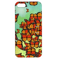 Monarch Butterflies Apple Iphone 5 Hardshell Case With Stand by linceazul