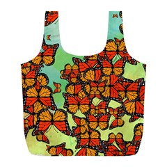 Monarch Butterflies Full Print Recycle Bags (l)  by linceazul