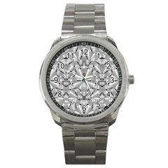 Modern Oriental Ornate Sport Metal Watch by dflcprints