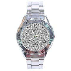 Modern Oriental Ornate Stainless Steel Analogue Watch by dflcprints