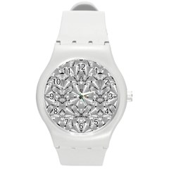 Modern Oriental Ornate Round Plastic Sport Watch (m) by dflcprints