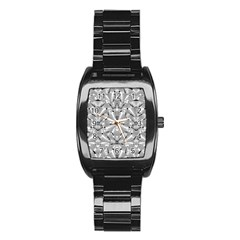 Modern Oriental Ornate Stainless Steel Barrel Watch by dflcprints