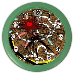 Art Color Wall Clocks by Valentinaart