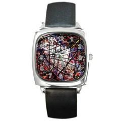 Art Square Metal Watch by Valentinaart