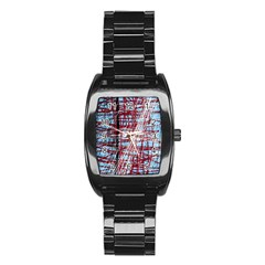 Art Stainless Steel Barrel Watch by Valentinaart