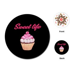 Sweet Life Playing Cards (round)  by Valentinaart