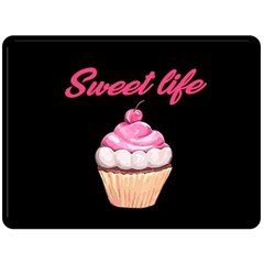 Sweet Life Double Sided Fleece Blanket (large)  by Valentinaart