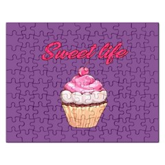 Sweet Life Rectangular Jigsaw Puzzl by Valentinaart