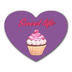 Sweet Life Heart Mousepads by Valentinaart