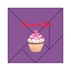Sweet Life Acrylic Tangram Puzzle (6  X 6 ) by Valentinaart