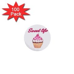Sweet Life 1  Mini Buttons (100 Pack)  by Valentinaart