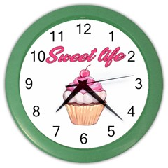 Sweet Life Color Wall Clocks by Valentinaart