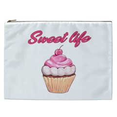 Sweet Life Cosmetic Bag (xxl)  by Valentinaart