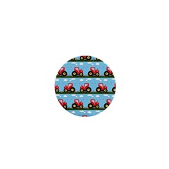 Toy Tractor Pattern 1  Mini Buttons by linceazul