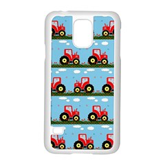 Toy Tractor Pattern Samsung Galaxy S5 Case (white) by linceazul