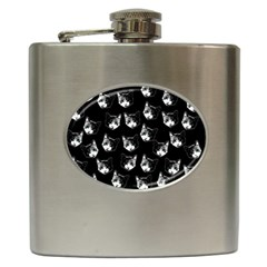 Cat Pattern Hip Flask (6 Oz) by Valentinaart