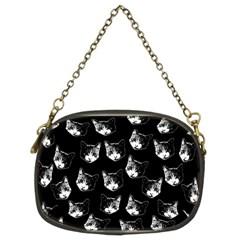 Cat Pattern Chain Purses (two Sides)  by Valentinaart