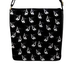 Cat Pattern Flap Messenger Bag (l)  by Valentinaart