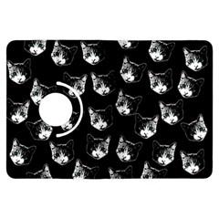 Cat Pattern Kindle Fire Hdx Flip 360 Case by Valentinaart