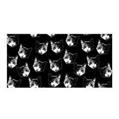 Cat Pattern Satin Wrap by Valentinaart