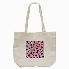 Cat Pattern Tote Bag (cream) by Valentinaart