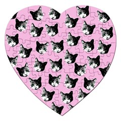 Cat Pattern Jigsaw Puzzle (heart) by Valentinaart