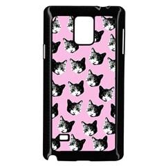 Cat Pattern Samsung Galaxy Note 4 Case (black) by Valentinaart